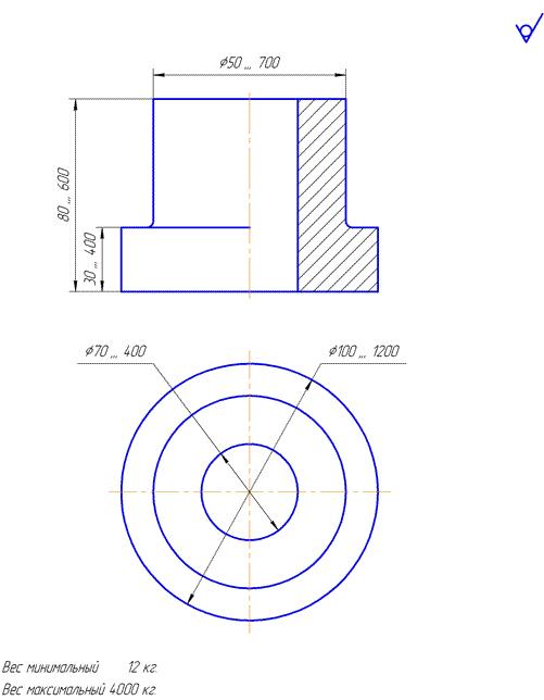 Возможная геометрия поковок детали типа «полумуфта»